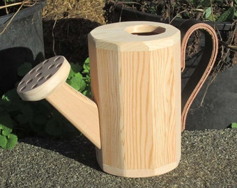 Toy Wooden Watering Can Just Right Size