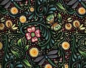 Luminaria Dragonfly Garden - Julie Paschkis - In the Beginning - 1 Yard - BTY