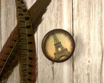 Eiffel Tower Powder Box, Wooden Box, trinket box, Wood Container, Treasure Box, Wooden Keepsake,  French, France, Paris, Europe, Travel