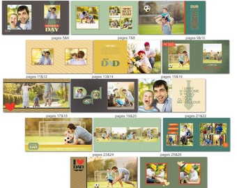 Fathers Day Album template for Photographers - 1035FA