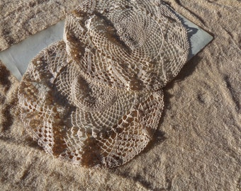 SALE Pair of Vintage crocheted doilies