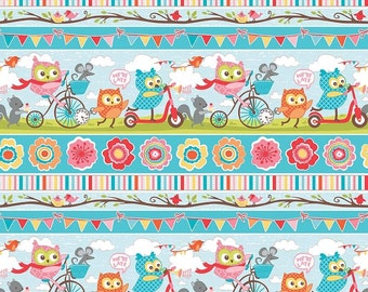 Splat splash Mat, Art Mat or Table Cloth in for highchair or table, Happy Party Owls, on the way scooters, bikes, laminated cotton, BPA Free