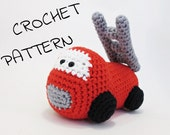 Amigurumi fire truck stuffed toy crochet pattern pdf tutorial US English