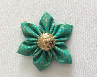 Green Dog Collar Flower- Ready to Ship