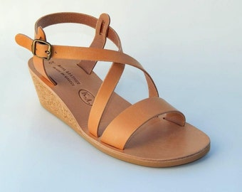 SALE -23%   Greek cowhide leather sandals
