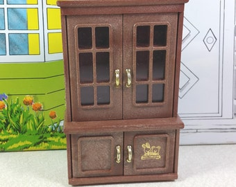 MAPLE TOWN STORY Cupboard, Hutch or Cabinet, Plastic, 1980's, Vintage Play Set, Miniature Furniture