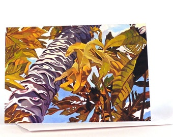 Papaya Tree Greeting Card