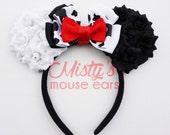 Inspired Cruella Deville Rose Mouse Ears