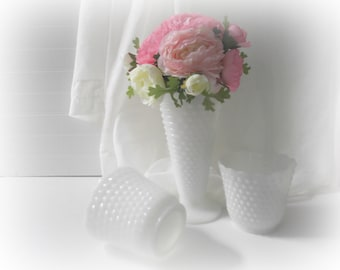 Wedding Milk Glass Vases Instant Collection Hobnail Vases Centerpieces Wedding Decor