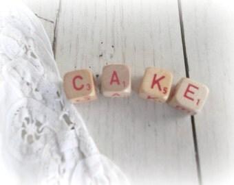Cake Sign Scrabble Letters Cake Wedding Cake Topper Farmhouse Sign Boho Wedding