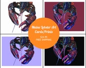 MAINE LOBSTER Art Cards b...