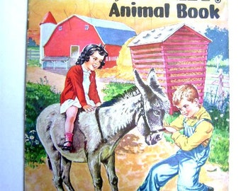 "Vintage 1947 Soft Cover Book ""Giddap,Donkey, Animal Book"""