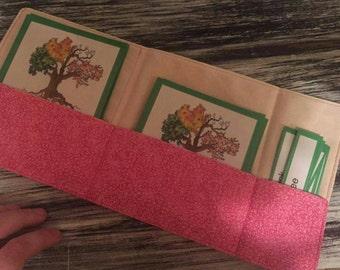 3 Part Card Cloth Pouches Montessori / 3 Part Card Fabric Pockets Montessori