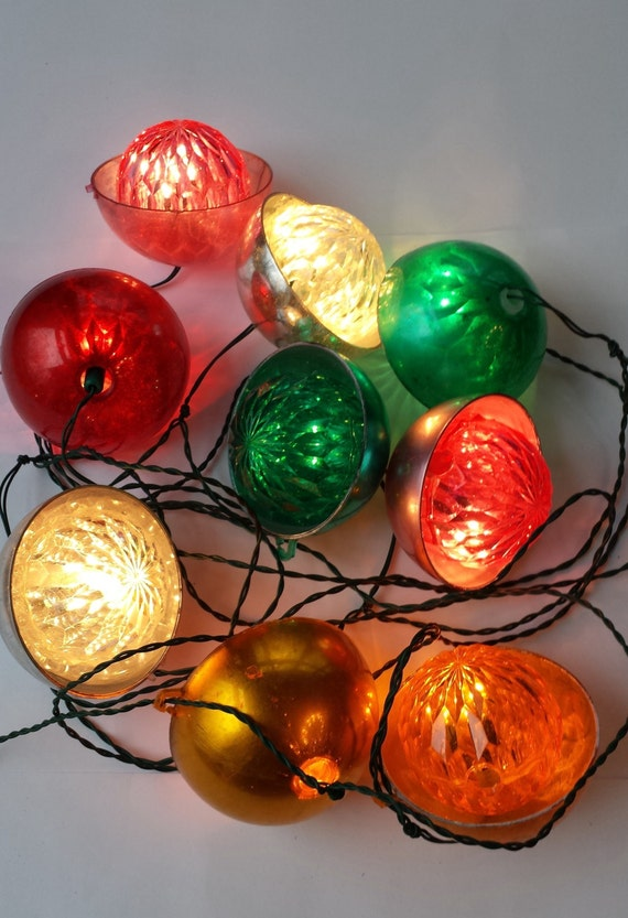Retro Christmas String Lights : Vintage Christmas Retro String Lights Headlight with Covers