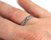 Clarinet Ring- Sterling Silver Ox Finish