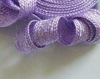 Art silk Moroccan trim, lilac, textured trim,  5metres