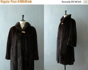 40% OFF SALE // Vintage fur coat. 1980s mink fur jacket. brown fur coat