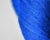 Completely shattered cobalt glass - Silk Lace Yarn
