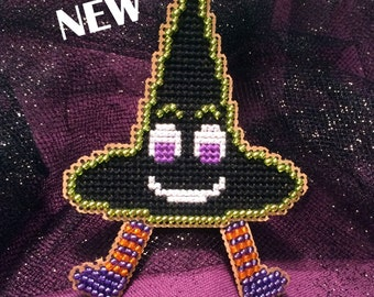Flowers 2 Flowers Witch Hat Counted Cross Stitch Kit K025