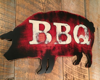 READY TO SHIP pig sign