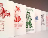 MEANIE GREETINGS - The Meanest, Most Ridiculous Letterpress Cards Around - SET of 6