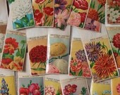 31 Different antique vintage French FLOWER SEED PACKETS