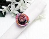 Custom order: Set of 16 Cartoon Paper Flower Napkin Rings