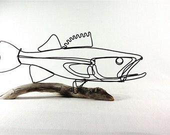 Walleye Fish Wire Sculpture. Fish Wire Art, Minimal Sculpture, 453623484