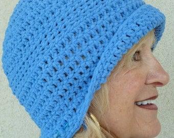 Winter Accessories women's crochet hat blue ski accessory women's fashion