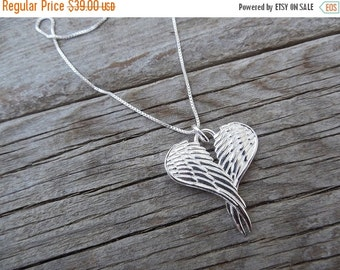 ON SALE Angel necklace in sterling silver