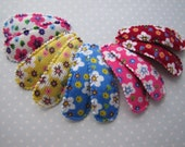 Corduroy Blossoms . snap clip pair . toddler hair accessory . choose your color . white yellow pink blue red