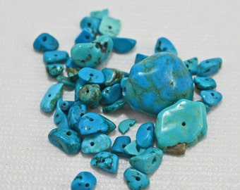 Turquoise nuggets, 5-14mm - #1904