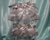 Platinum and Silver Sparkling Garter Set
