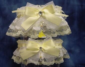 Disney Princess Belle Yellow Wedding Garter Set