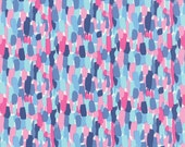 Pink & Blue Abstract Print from the Paradiso Collection, by Kate Spain for Moda, 1 yard