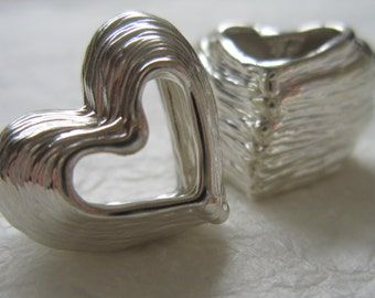Silver Love Heart, Unique Gift, I Love you, One of a kind Gift, Momento, Thinking of you, Thank you, Handmade, Silver