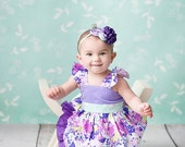 The Layla floral flutter dress for girls toddlers babies