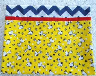 Snoopy and Woodstock Childrens or Travel  Pillow Case