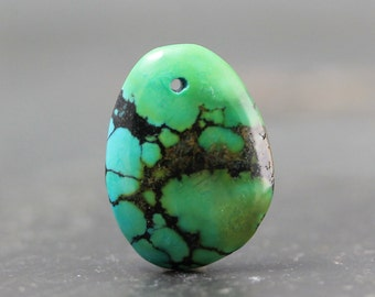 Drilled Turquoise Focal Bead - DIY, Easy Jewelry Designs, Natural Stone Gems, Pendant, Necklace Tutorial, Lesson, Beginner Jewellry Crafts