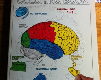 SAle 1985 The Human Brain  Coloring book paperback