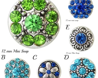 Mini Snap Charms will fit Petite Ginger Snaps Jewelry and other mini snap jewelry. 12-13 mm snap charms