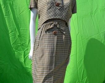 vintage 60's dress PAT SANDLER for highlight dress Mad Men mod go-go tailored sM dress with jacket by thekaliman