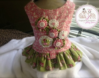 Small Dog Harness Dress-Custom Design Made To Order