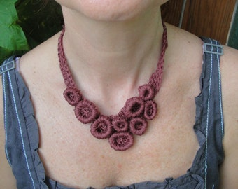 LARIAT crochet  LINEN in the sUMMER, necklace,scarflette,jewelry,lariat,neckwarmer,  ecofriendly product