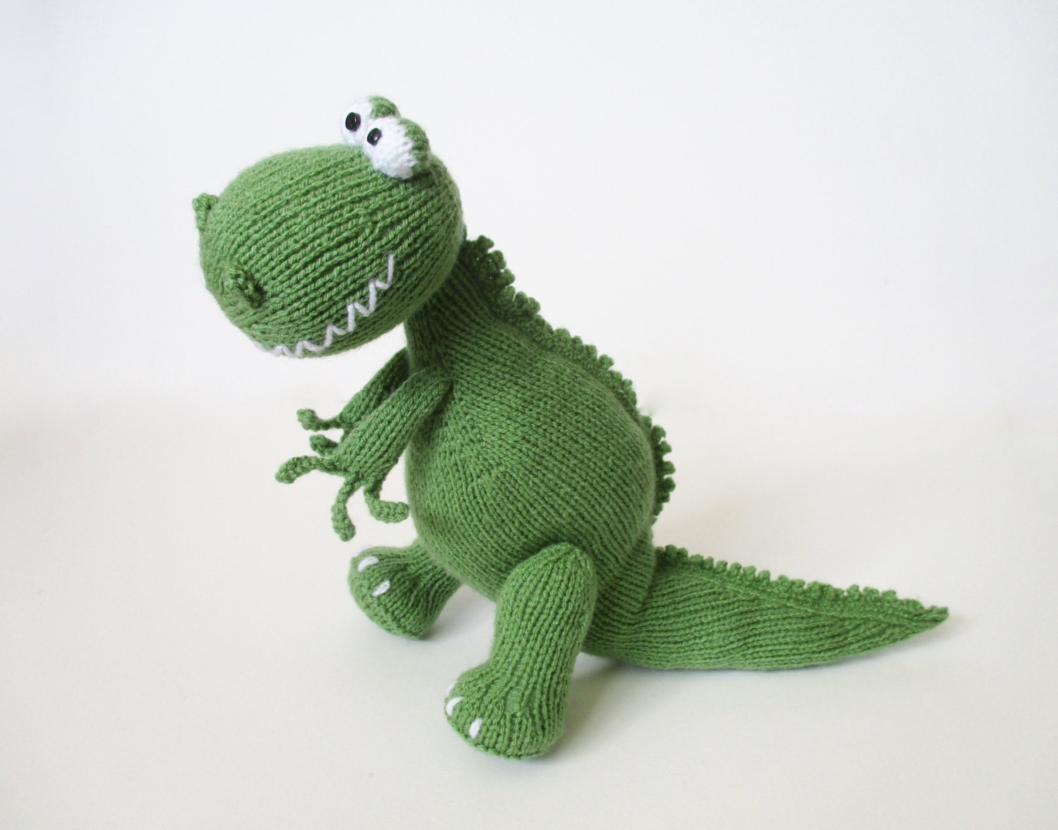 Trex and Bronty Dinosaurs toy knitting patterns