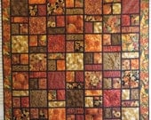 Quilted Fall harvest Couch Throw Tablecloth