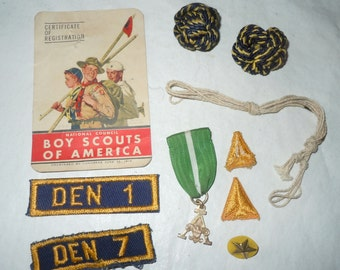 Lot of Vintage Boy Scout patches pins medal advertising