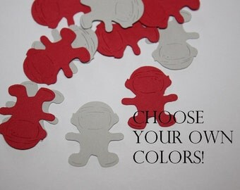 Astronaut Die Cut Confetti Table Decor 200 pieces - Choose your own colors!