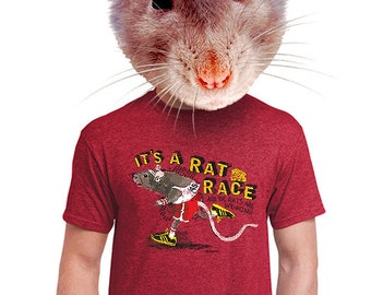 rat race t-shirt funny mens running shirt tee animal mice lover gift for runner dad teens college kid crazy cool t-shirts for guys boyfreind