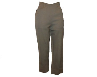 XS/2 Vintage 1960's Ranch Togs Pants, Women's Wool Side Zipper Slacks, X-Small